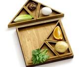 Modular Seder plate , Passover set with Matzo tray, Tangram inspired, Playful geometric tableware, Modern Judaica gift from Israel