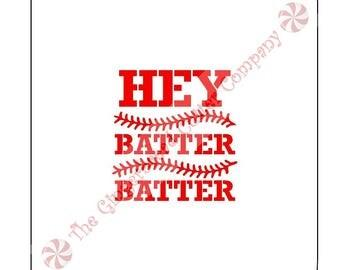 Hey Batter Batter Cookie Stencil