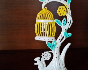 VINTAGE 1970s Torino Earring Tree - Studs Posts Piercings Holder - Jewelry Organizer - Retro Decor