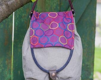 Textile woman bag-Shoulder bag-Handbag-Backpack-Designer handbag-Printed handbag