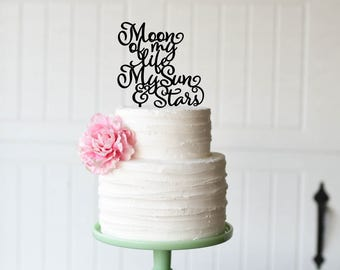 Game of Thrones Wedding Cake Topper - Moon of my Life My Sun and Stars Cake Topper - Cake Topper