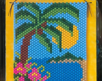 """Tropical Delight DIY Beaded Banner Kit 9-3/4"""" x 14-3/4"""" - The Beadery Craft Products Kit 5456"""