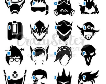 Overwatch Character Icon Vinyl Decal, Decal for Windows, Cars, Laptops, Water Bottles, Coolers, Mugs and much more!