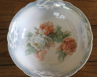 Antique Decorative German Porcelain Serving/Fruit Bowl