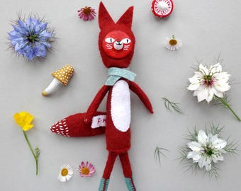 Reggie the Fox / Plushie / Handmade Toy