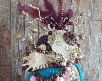 Titan's Masquerade Siren Mermaid crown/headpiece,Burlesque,Costume, Boho, Festival, Photoshoot, Fantasy, Cosplay, Ball, Medusa