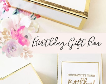 Birthday Gift Box Birthday Gift Basket Ideas Personalized Birthday Gift For Her Gift for Best Friend Sister Friends (EB3171BIR) EMPTY BOX