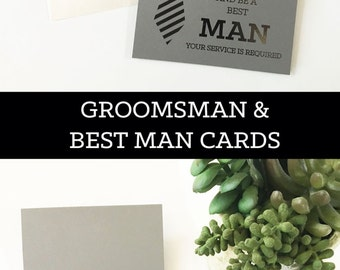 Groomsmen Cards Will You Be My Groomsman Card Funny Cool Best Man Proposal Card Best Man Card (EB3194QST) set of 4 cards