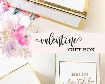Galentines Day Gift Valentines Gift Box Valentines Gift Basket Valentines Gift for Her, Mom, Best Friend (EB3171BPW) PERSONALIZED EMPTY BOX