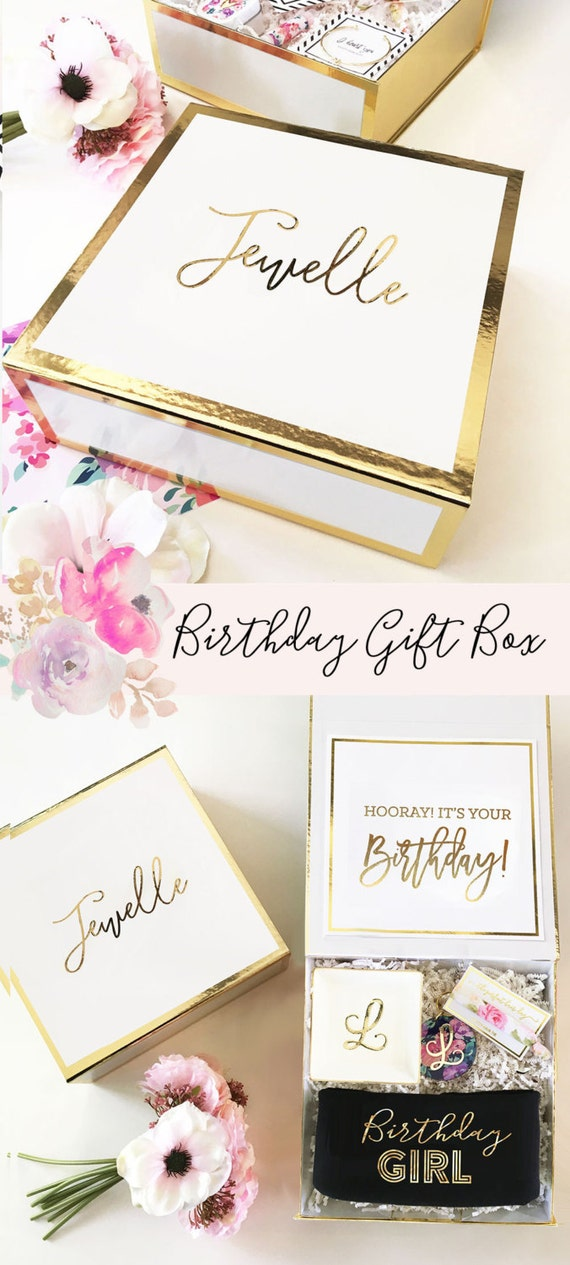 Il_570xn & Birthday Gift Box Birthday Gift Basket Ideas Personalized Birthday ... Aboutintivar.Com