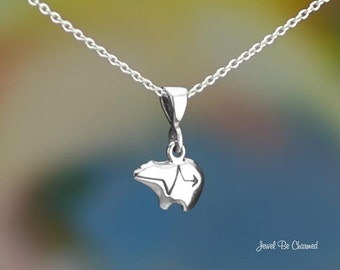 Tiny Sterling Silver Zuni Bear Heartline Bear Necklace or Pendant Only