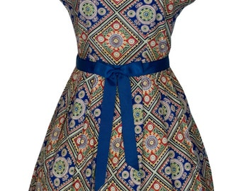 Original Vintage 1940's Novelty Print Day Dress