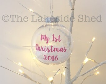 My first Christmas |My first Christmas Bauble | Baby's 1st Christmas | Baby's First Christmas | Personalised Bauble | New Baby Gift