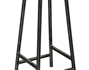 Bertie Tanner - Leather Seat Industrial Bar Stool