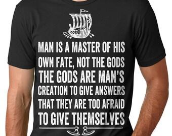 Vikings T-Shirt Valhalla Odin Vikings Fan Tee Shirt