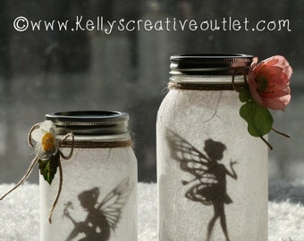 Fairy Jar - Fairy Lantern - Mason Jar Decor - Shower Gift - Nursery Decor - Teacher Gift - Baby Shower Centerpiece - Gift For Her - Luminary