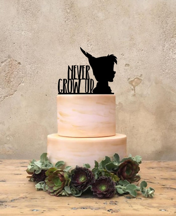 peter pan wedding cake topper pan birthday cake topper custom pan cake topper 18308