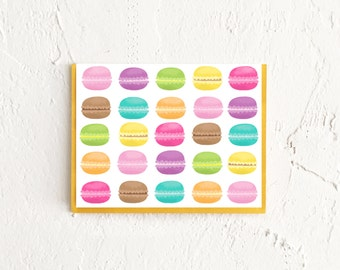 Macarons Cards, Macarons Note Cards, Pattern Stationery, Correspondence Card, Thank You Card, Stationery Set, Birthday Thank You