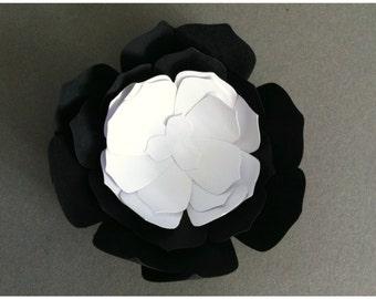 Black and White Flowers - Table Decoration - Wedding Decor - Eco Wedding - Eco Friendly Flowers - Paper Flowers - 50th Birthday - Weddings