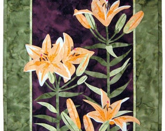 Wildfire Designs Alaska Lily Trinity Tiger Lily Applique Quilt Pattern