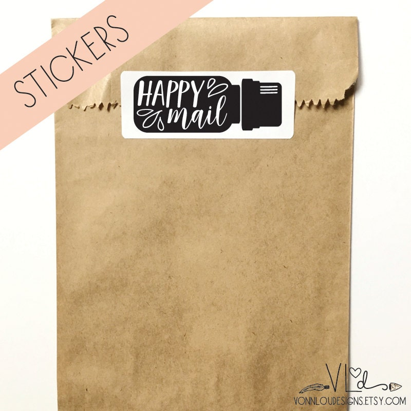 Petroleum Fuel Mail: Essential Oil Sticker Happy Mail Hand Illustrated