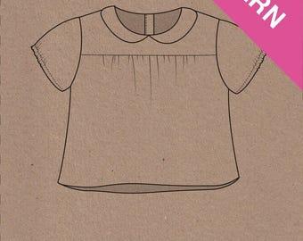 Edie Bouse & Shirt dress - Two stitches Patterns - PDF pattern