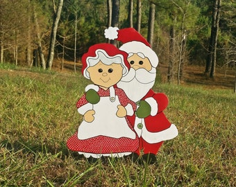 Adorable Mr. and Mrs. Claus | Christmas Yard Art