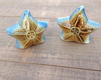 Star Fish Salt and Pepper Shakers, Salt and Pepper Shakers, Collectible, Nautical Kitchen Decor