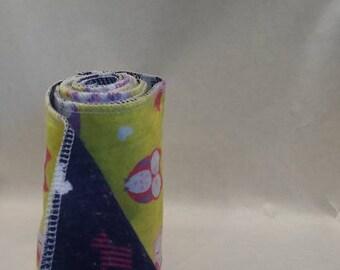 1 set de 25 Lingettes lavables 4.5''x8'' OU 8''x8''/ Papier hygiénique réutilisable / Cloth wipes 8x8'' / Reusable toilet paper / Baby wipes