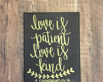 Love is Patient Love is Kind wall decal 1 Corinthians Bible