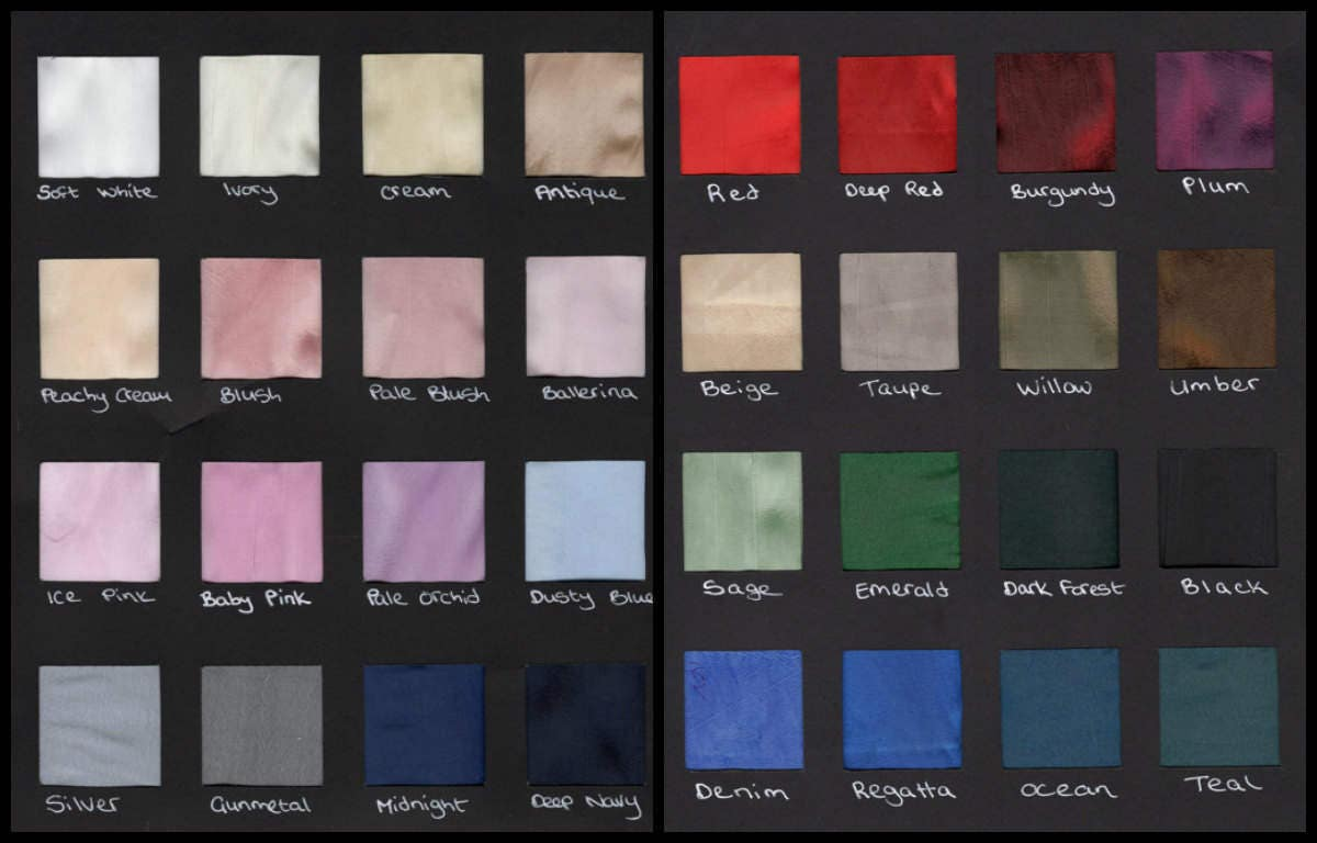 Taffeta swatches taffeta fabric bridal taffeta for Wedding dress fabric samples