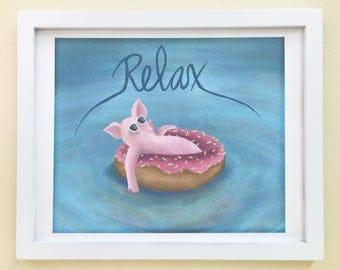 Pig Art Print, Cute Pig Print, Cute Pig Art, Pig Wall Art, Pig Nursery Art, Pink Pig Art Print, Funny Pig Art, Pig Nursery Decor