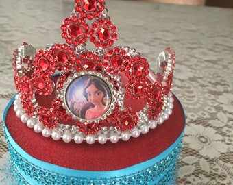 Elena of Avalor Crown, Party Favor Crown, Elena Crown,  Princess Party Favor, Elena Princesses Theme Party,  Childrens Crowns,