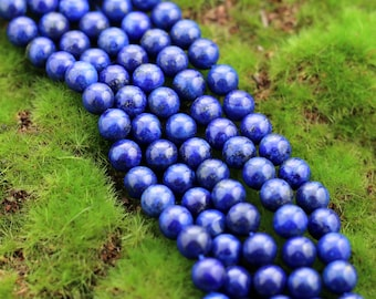 Lapis Lazuli, Lapis Beads, 8mm, Blue Lapis Lazuli Beads, Lapis Gemstone Beads, Blue Gemstone,  Full Strand,  8mm Gemstone
