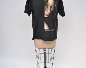 vintage tshirt TORI AMOS T-SHIRT retro 1990s oversized boyfriend fit 90s medium