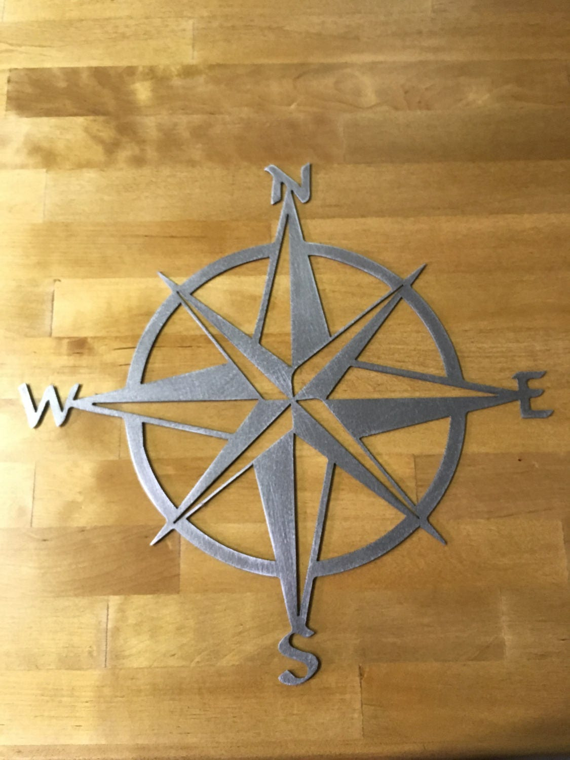 16 to 36 nautical star compass steel wall decor details nautical star compass steel metal wall decoration amipublicfo Gallery