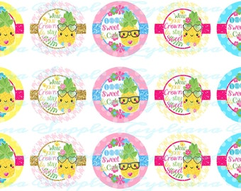 PineApple Bottlecap Images with Free tshirt transfer
