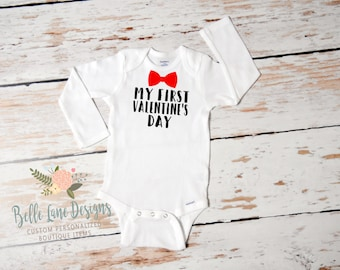 Baby Boy My First Valentine's Day Onesie | First Valentine's Day | Baby Boy Valentine Outfit | First Valentine Outfit for Boy | 164