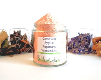 Candied Apple Gourmet Popcorn Seasoning Mix Topping Flavoring Coating Glaze Foodie Gift