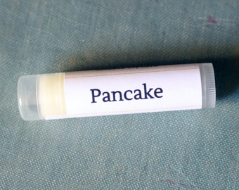 Pancake Lip Balm with Vitamin E // handmade natural lip balm // food lip balm // perfect stocking stuffer // fall flavors // breakfast