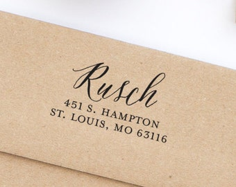 Return Address Stamp, Self-Inking Address Stamp, Personalized Address Stamp, Wedding Address Stamp - Custom Address Stamp Style No. 191
