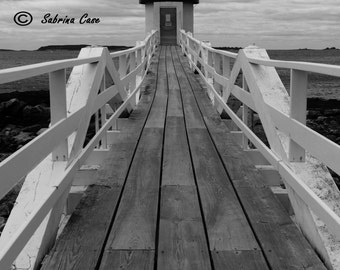 Marshall Point Lighthouse Photograph Black and White