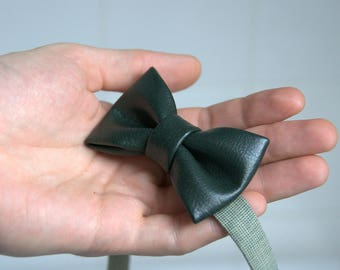 Kids Bow Tie. Bow Tie for Boy. Leather Bow Tie.