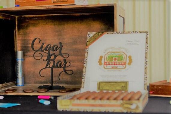 Bar Sign Wood, Rustic Bar Signs, Cigar Bar, Cigar Bar Sign, Wedding Cigar Bar, Cigar Bar Party Sign, Cigar Bar Event Sign, Wooden Sign