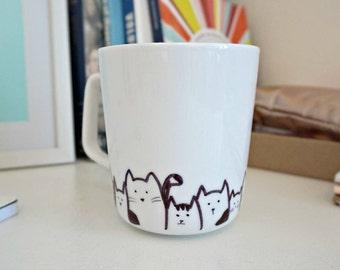 Handpainted Mug - Cats