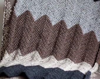 PDF Crochet Pattern - Chevron Blanket