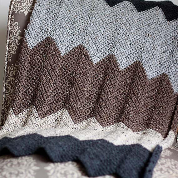 PDF Crochet Pattern - Chevron Blanket