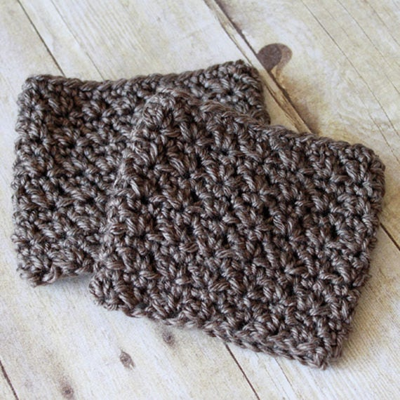 PDF Crochet Pattern ~The Half & Half Boot Cuff Warmer - Boot Cuff Pattern