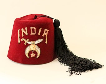 india shriners fez hat