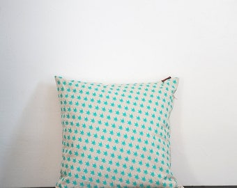 COLOR PILLOW - GREEN - printed by hand